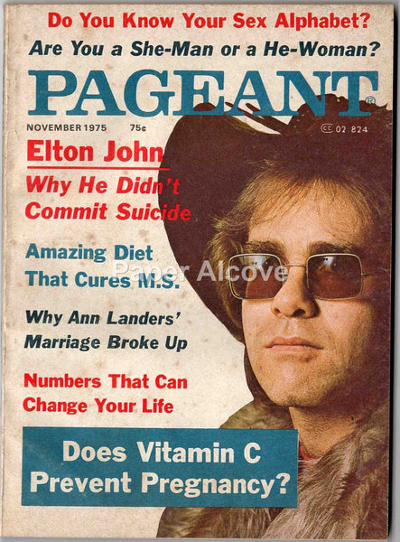 Pageant November 1975 old original vintage magazine Elton John cover