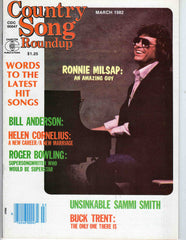 Country Song Roundup March 1982 music magazine Ronnie Milsap