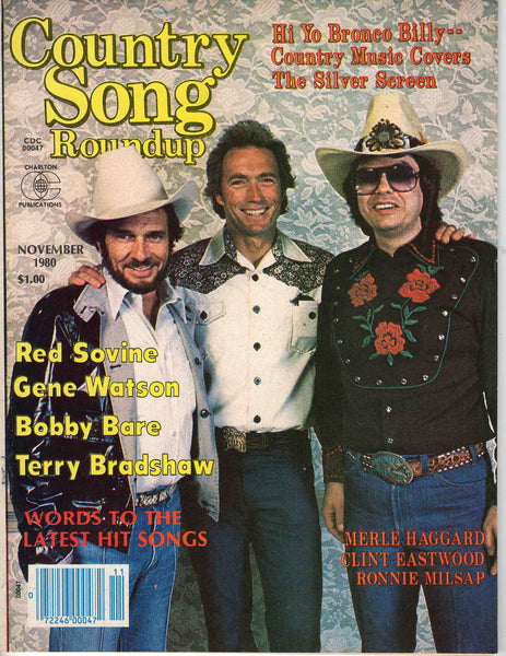 Country Song Roundup November 1980 music magazine Clint Eastwood