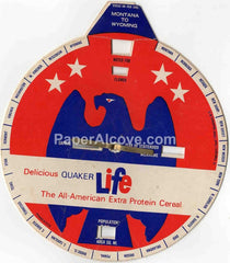 Quaker Life The States 1960 original vintage advertising premium