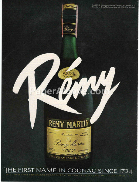 Remy Martin Cognac Brandy 1980 vintage original old magazine ad retro bar