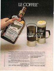Cointreau Le Coffee 1980 vintage original old magazine ad retro bar French liqueur