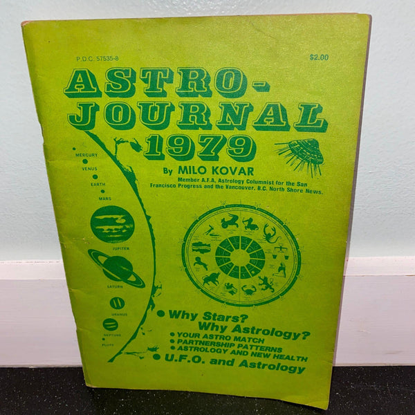 Astro-Journal 1979 by Milo Kovar vintage Astrology UFO Horoscope Book