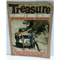 Treasure Magazine February 1971 Vol 1 No 5 Oklahoma ATV Insulators Diving