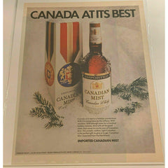 1971 Canadian Mist Whiskey Winter Christmas Vintage Magazine Print Ad