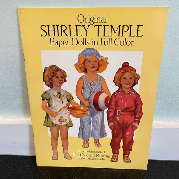 Shirley Temple Paper Dolls Book NOS 1988 Boston Children's Museum repro