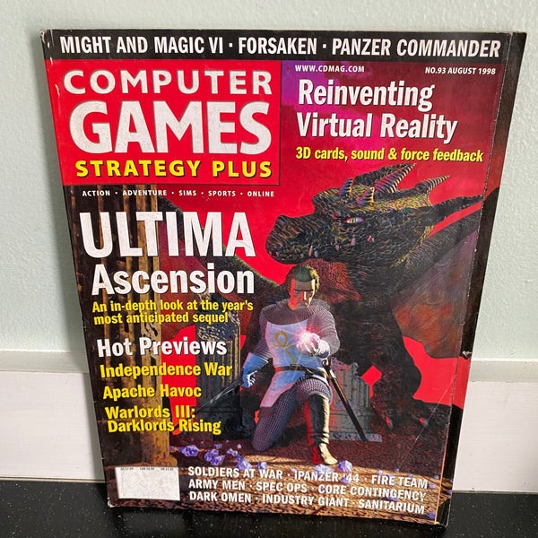 Computer Games Strategy Plus August 1998 magazine PC gaming
