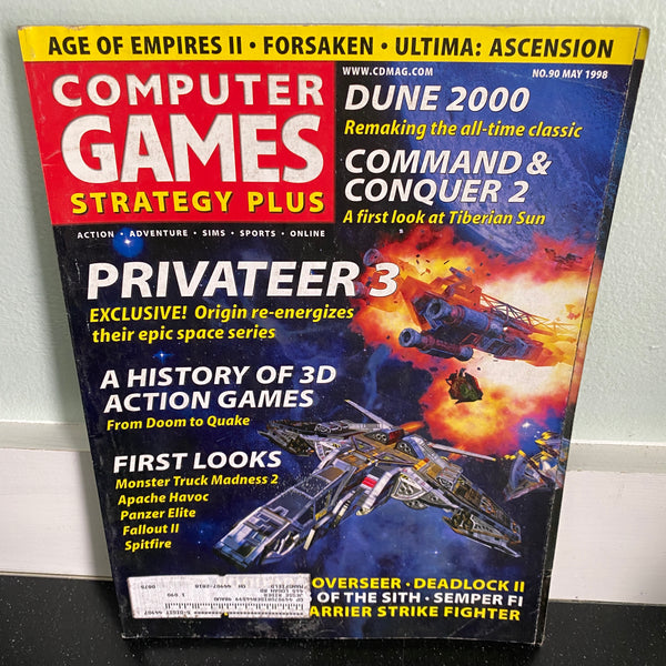 Computer Games Strategy Plus May 1998 magazine PC gaming