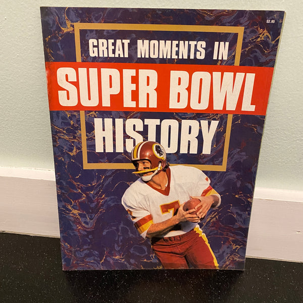 great moments in super bowl history 1987 booklet