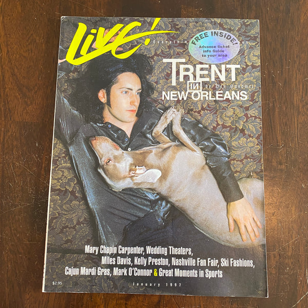 Live magazine January 1997 Trent Reznor NIN
