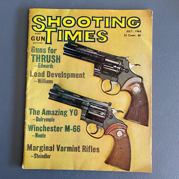 Shooting Times July 1966 magazine Thrush hunting Winchester M-66