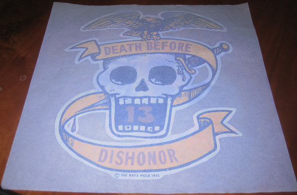 1965 Death Before Dishonor The Rat's Hole vintage t-shirt iron-on transfer USMC Marines biker