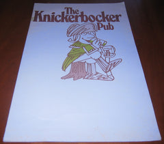 Knickerbocker Pub 1970s Menu Revolutionary War Soldier