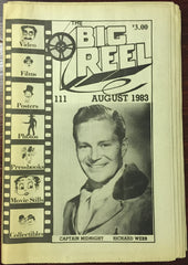 The Big Reel August 1983 #111 movie collector newspaper Richard Webb Captain Midnight