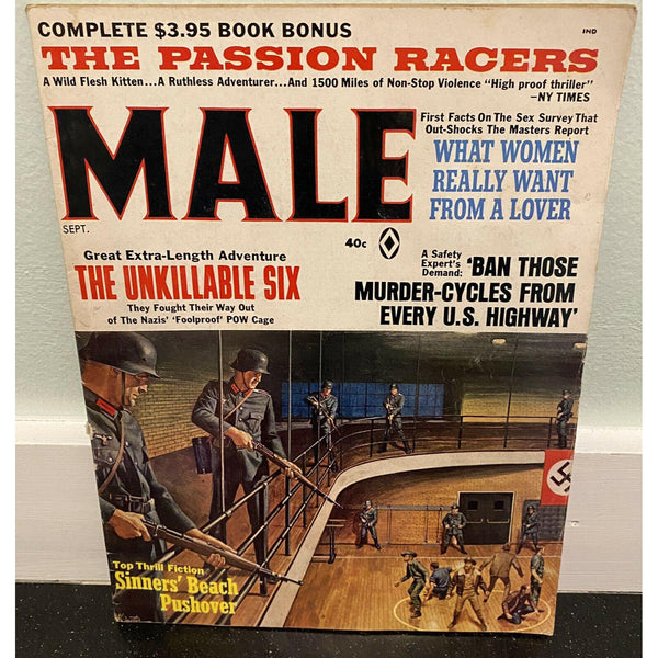 Male Magazine Vintage September 1967 Mens Adventure Sleaze William F. Buckley Jr