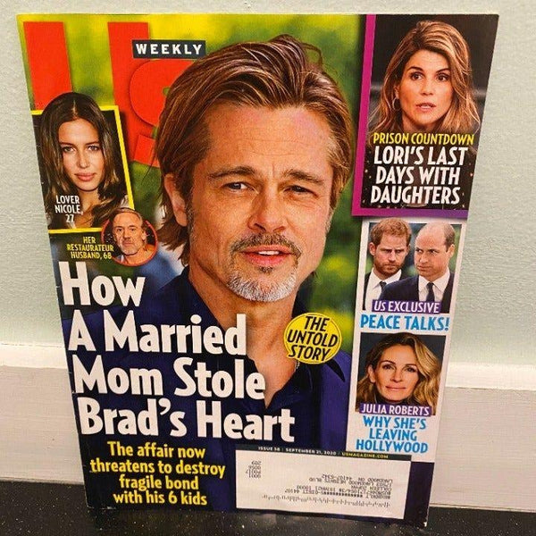 Us Weekly Sep 21 2020 magazine Brad Pitt Julia Roberts Lori Laughlin British Royals
