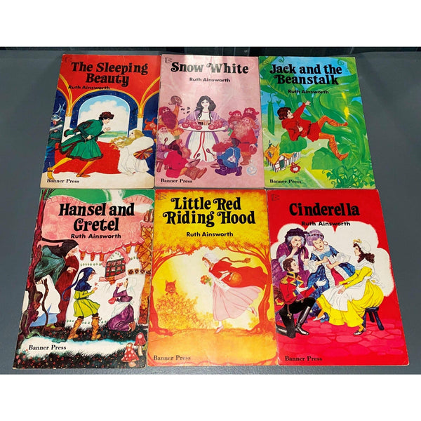 Ruth Ainsworth Fairy Tale Book Lot of 6 Vintage 1970s