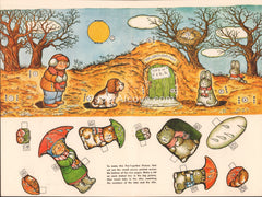 Ground Hog Day vintage 1960 old uncut paper doll playset