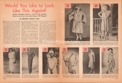 Would You Like to Look Like This Again? 1947 vintage original old magazine article 1920s flapper fashion