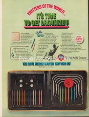 Boye Needle Master Knitting Kit 1968 vintage original old magazine ad company Chicago IL