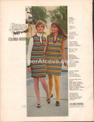 Columbia-Minerva Corp Knit Kits 1968 vintage original old magazine ad retro striped dresses fashion