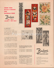Bamberger's cross-stitch 1962 vintage original old magazine ad McCall's patterns Newark NJ