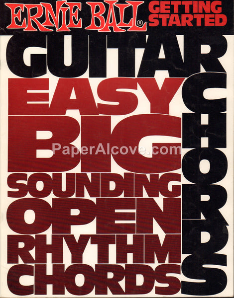Ernie Ball Getting Started Guitar Chords 1982 vintage music instruction song book