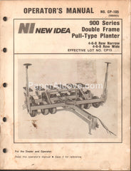 New Idea 900 Series Double Frame Pull-Type Planter 1985 original vintage Operator's Manual old farm equipment