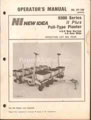 New Idea 9300 Series II Plus Pull-Type Planter 1987 original vintage Operator's Manual old farm equipment