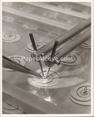 Laboratory Manufacturing Weltek Welder close-up Goodyear Aerospace Corporation 1960s vintage original old photograph Akron Ohio