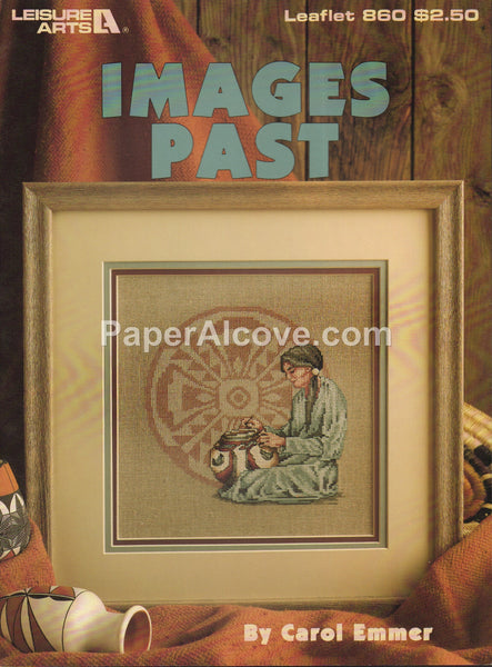 Images Past 1989 vintage original native american indian cross stitch pattern book Leisure Arts Leaflet 860