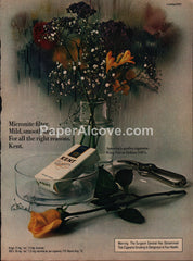 Kent Cigarettes flowers 1973 vintage original old magazine ad