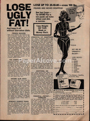 Lose Ugly Fat Oxford Slim Disc Plan Diet 1973 vintage original old magazine ad