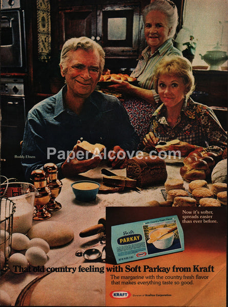 Parkay Margarine Kraft Buddy Ebsen 1973 vintage original old magazine ad
