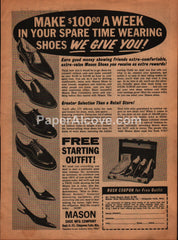 Mason Shoe Mfg. Co. 1966 vintage original old magazine ad Chippewa Falls