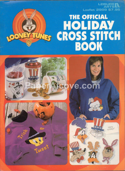 Looney Tunes Official Holiday Cross Stitch Book 1997 vintage original Leisure Arts cross stitch pattern leaflet 2999
