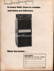 Acoustic 301 370 amp amplifier 1973 vintage original old magazine ad