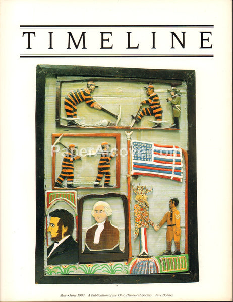Timeline Ohio Historical Society Journal May June 1993 vintage history magazine Elijah Pierce woodcarvings
