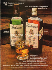 Ballantine's Scotch Whisky 30 years old 1980 vintage original old magazine ad retro bar