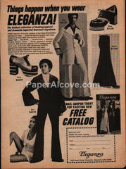 Eleganza pimp disco clothing 1973 vintage original old magazine ad