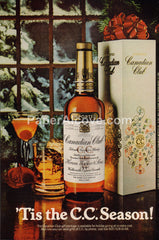 Canadian Club Whisky Christmas gift box 1980 vintage original old magazine ad retro bar