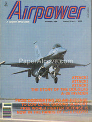 Airpower November 1989 vintage original magazine Douglas A-26 Invader F-16 Fighters