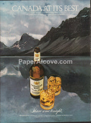 Canadian Mist Whisky mountain lake 1980 vintage original old magazine ad retro bar