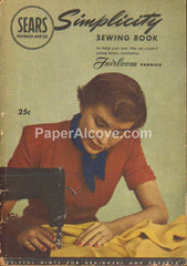Sears Roebuck Simplicity Sewing Book 1949 vintage original old booklet