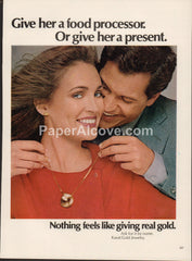 Karat Gold Jewelry 1980 vintage original old magazine ad necklace present to a woman