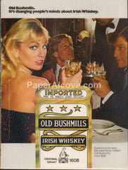 Bushmills Irish Whisky blonde woman 1980 vintage original old magazine ad retro bar