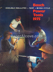 Bosch Power Tools 1975 vintage original old tool catalog
