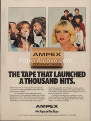 Ampex cassette tapes 1980 vintage original old magazine ad audio sound equipment The Bee Gees Blondie