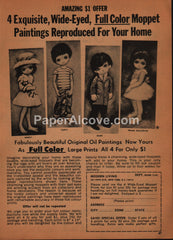 Big-Eye Moppet Paintings 1969 vintage original old magazine ad