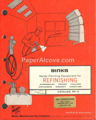 Binks Spray Painting Equipment 1973 catalog RF-3